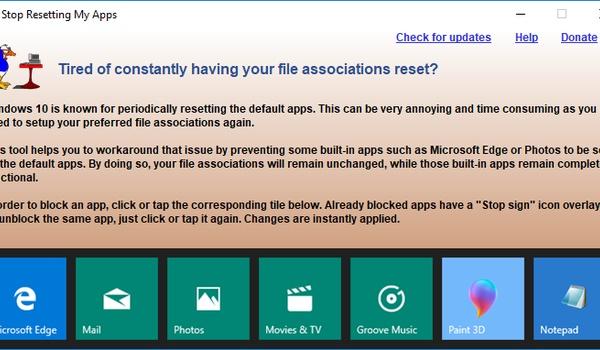 Stop resetting my apps - Bescherm uw bestandsassociaties