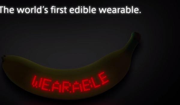 Deze banaan is 's werelds eerste eetbare wearable