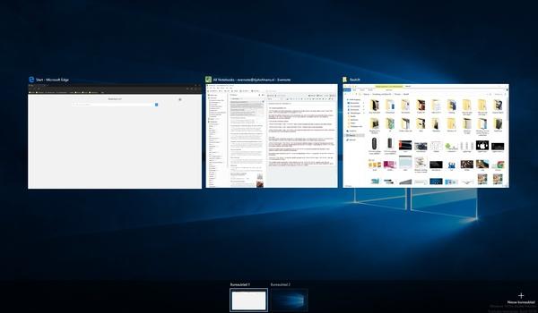 Windows 10: Virtuele bureaubladen en 'Taakweergave'