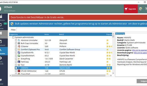 UCheck - Software updaten