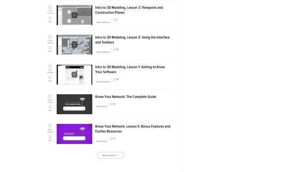 LifeHacker Nightschool - Een groot aantal online cursussen over allerlei computer-onderwerpen