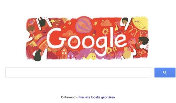De dag van de Rechten van het Kind 2016 gevierd door Google