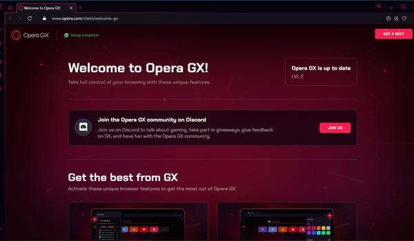 OperaGX - Browser voor gamers