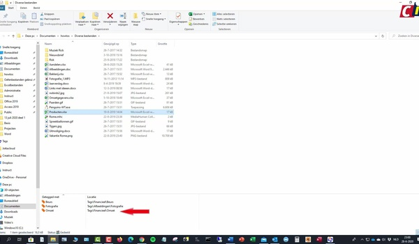 Trefwoorden aan bestanden toevoegen