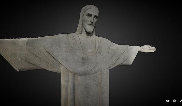 Drone digitaliseert Christus de Verlosser voor 3D-model