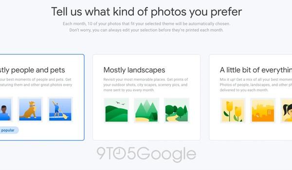 Google test abonnement op geprinte foto's