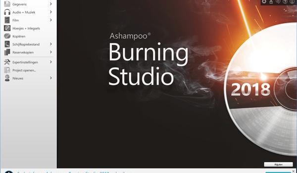 Ashampoo Burning Studio 2018 Free - Zet je schijfjes in vuur en vlam