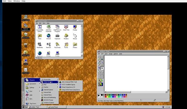 Windows 95-app uit voor Windows 10, macOS en Linux