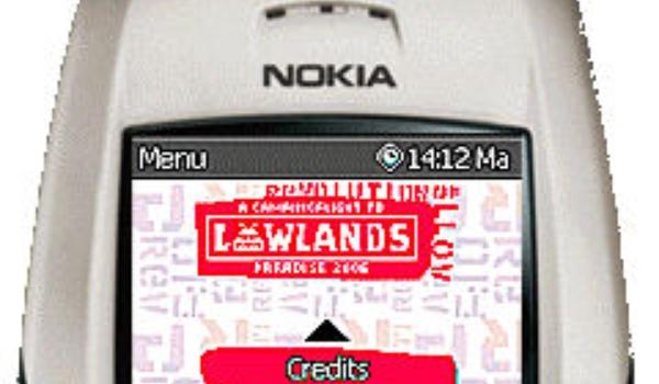 Lowlands-gids op de mobiele telefoon