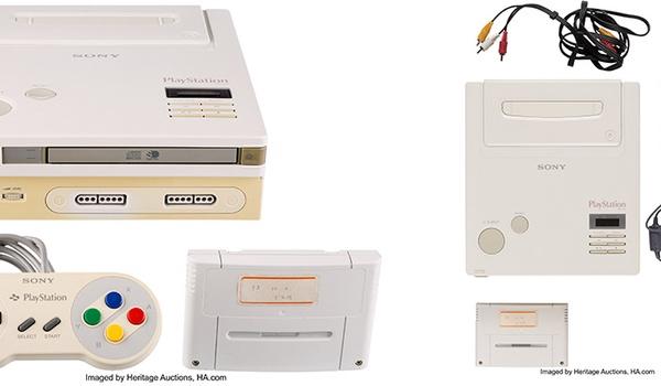 Zeldzame Nintendo Play Station spelcomputer wordt geveild