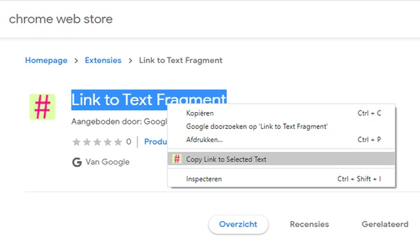 Chrome-extensie helpt bij delen specifieke website-passages