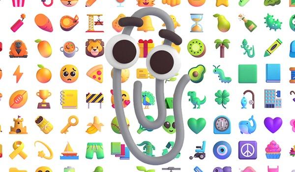Microsoft herontwerpt 1800 emoji, gastrol voor Clippy
