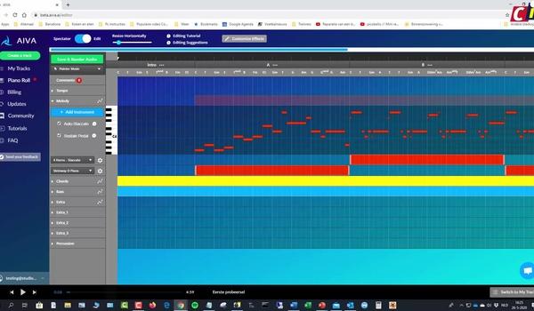 Muziek maken met AIVA