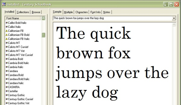 The Font Thing
