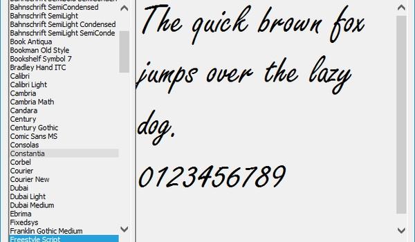 Fontster - Een snel overzicht van beschikbare lettertypen