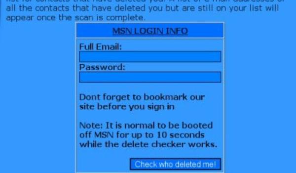 Eerste phishing-site ontdekt voor gebruikers MSN