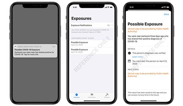 Zo ziet een corona-app met hulp van Apple en Google er uit