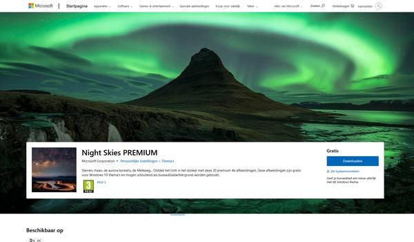 Night Skies Premium - Bureaublad-thema