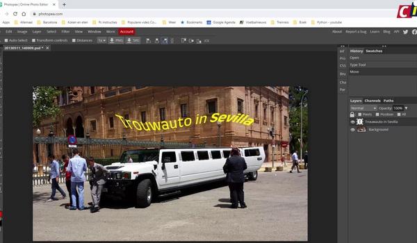 Tekst bij afbeeldingen met Photopea