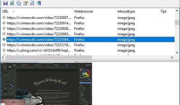 ImageCacheViewer - Haal plaatjes uit de browsercache van IE, Firefox en Chrome