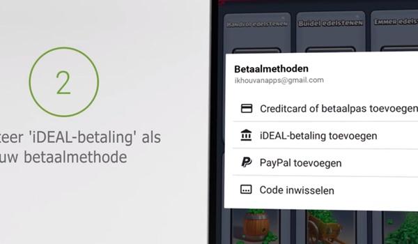 Apps af te rekenen met iDeal in Play Store