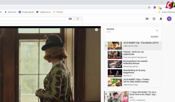 Scrollen door suggesties op YouTube