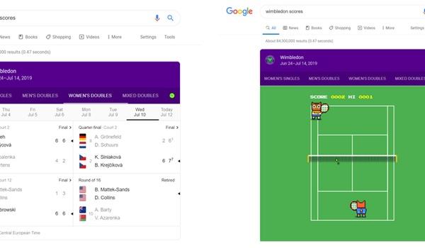 Speel een potje tennis op Google
