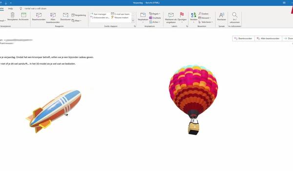 Outlook: 3D-modellen