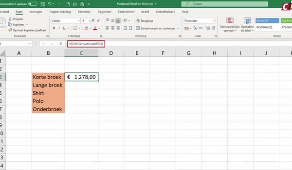 Excel: 3D-referenties
