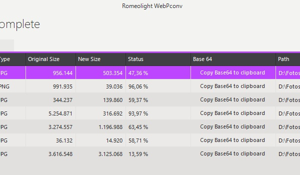 WebPCony - Afbeeldingen comprimeren
