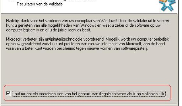 Windows' standpunt over illegaliteit