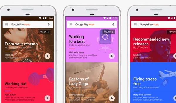 Play Music maakt aanbevelingen op basis van luistergedrag