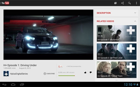 YouTube new Android-app