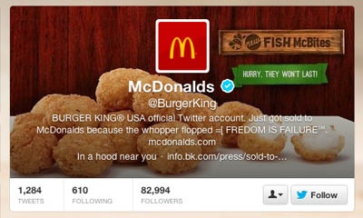 hacked burger king twitter account