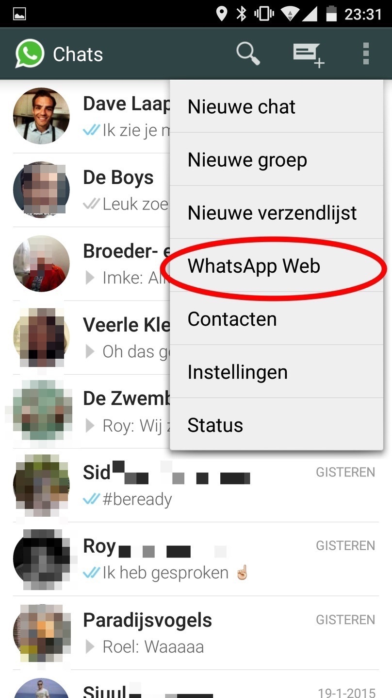 Zo gebruik je whatsapp op je pc computer idee for Idee application web