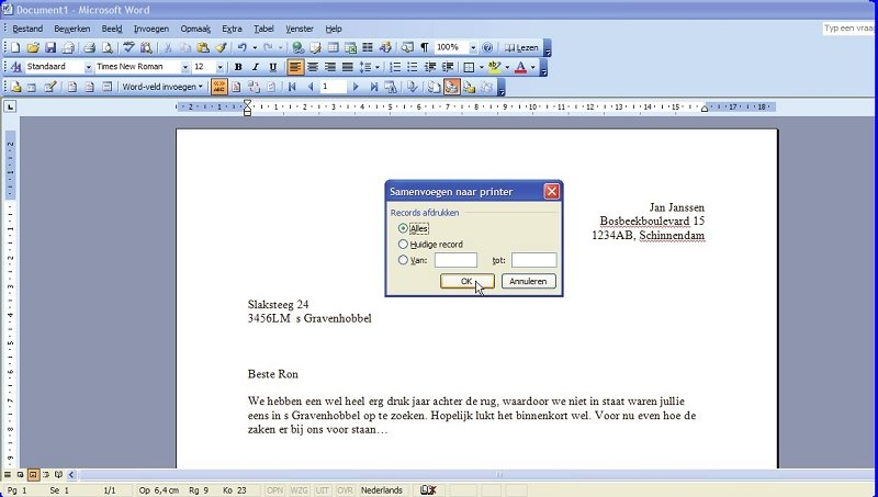 Maak persoonlijke brieven met Excel | Computer Idee