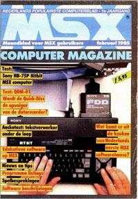 MSX Computer Magazine cover