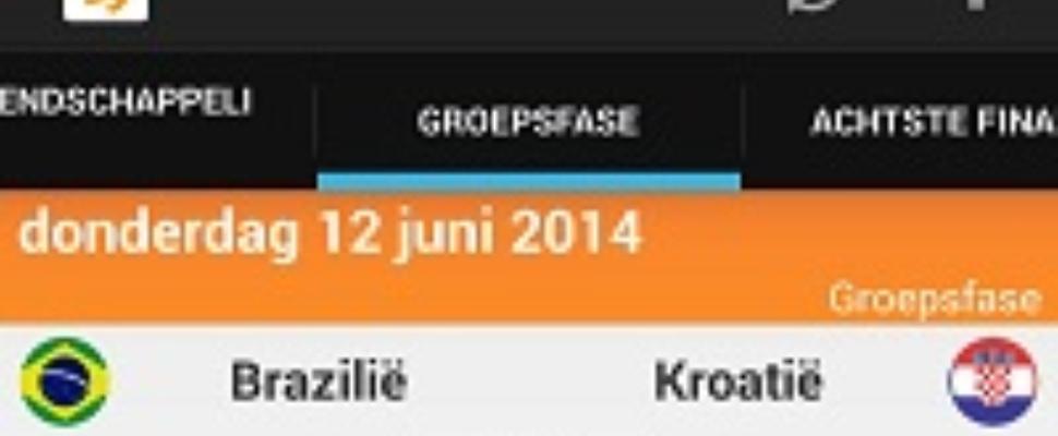 WK-voorpret: WK 2014-app