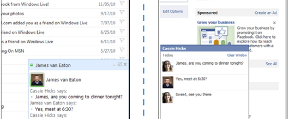 Facebook Chat nu ook in Nederland in Hotmail