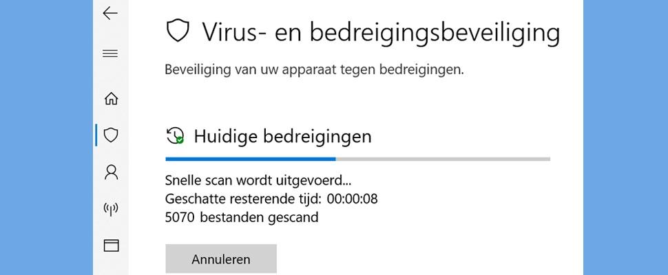Windows Defender haalt topscore bij antivirus-vergelijker