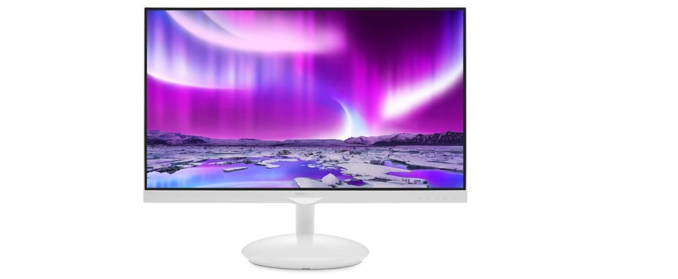 Philips-monitor heeft Ambilight in de voet