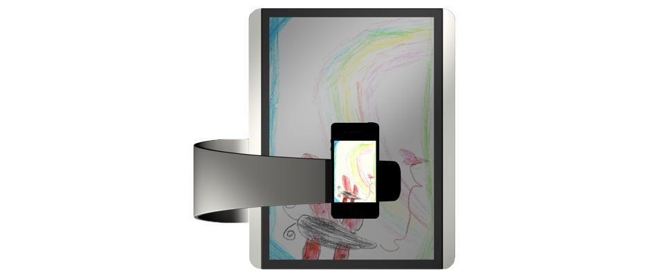 Scanpad is scanner en projector in modern jasje