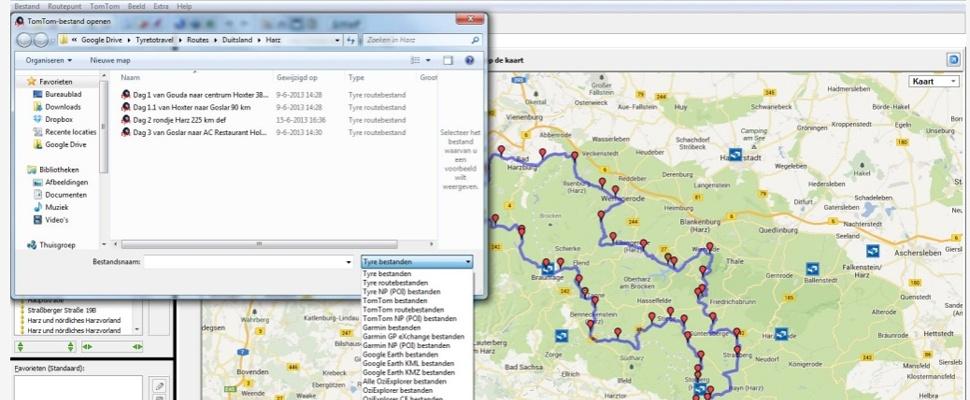 Routeplanner Tyre stopt met Google Maps-integratie