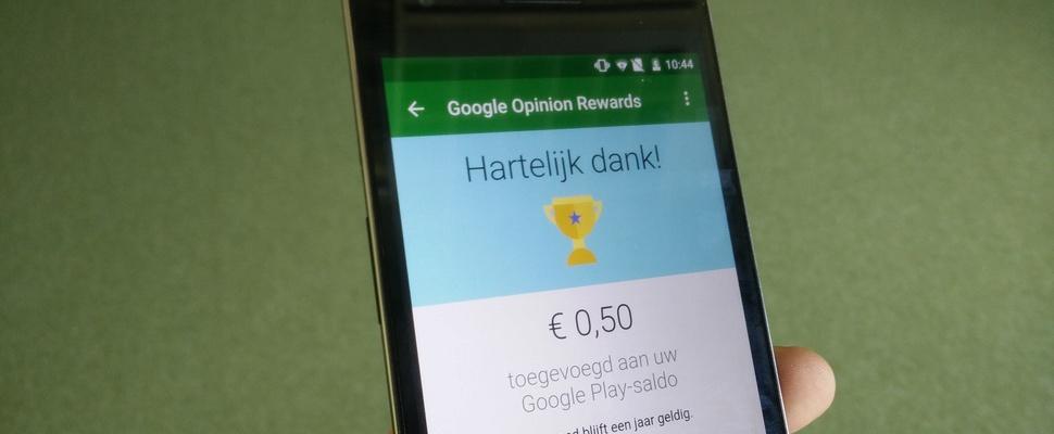 Verdien gratis Play-tegoed met Google Opinion Rewards