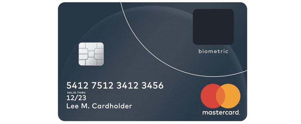 Mastercard test vingerafdrukscanner in creditcard