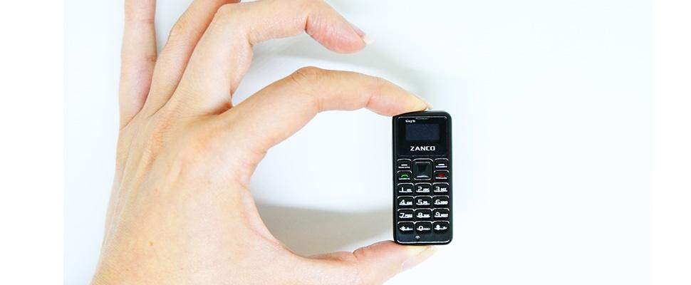 Tiny T1 van Zanco is allerkleinste smartphone