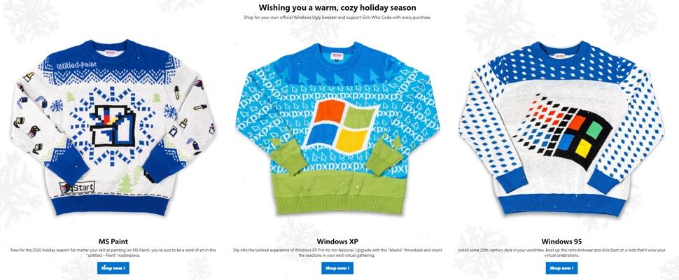 Microsoft verkoopt 'lelijke kersttruien' voor goed doel