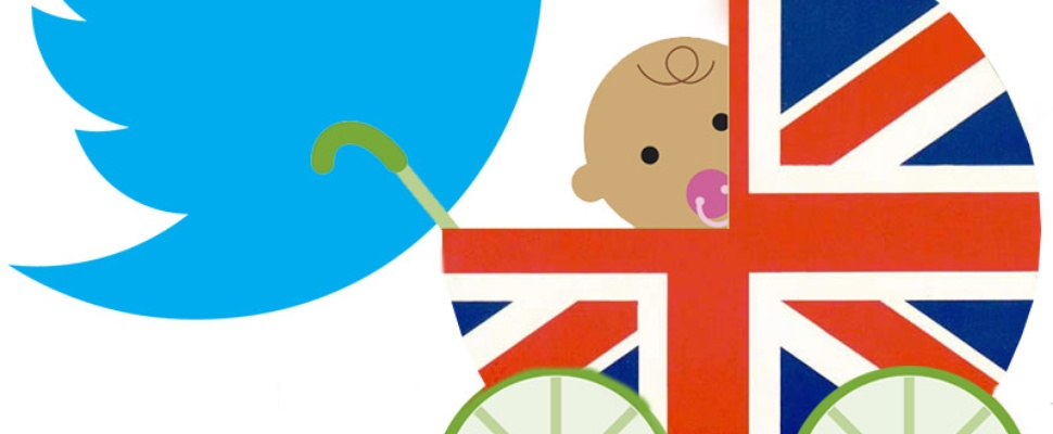 #Royal Baby tweets per land in Infographic