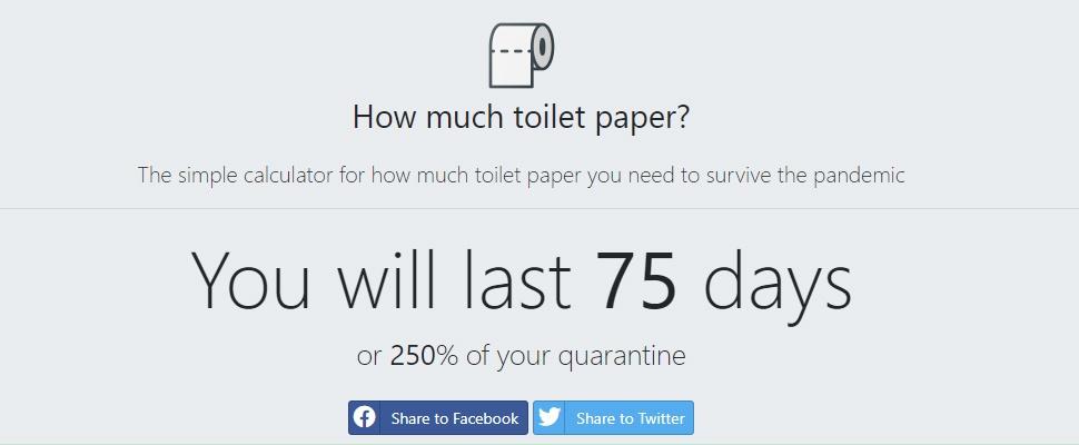 Site berekent hoeveel toiletpapier je werkelijk nodig hebt in corona-tijden