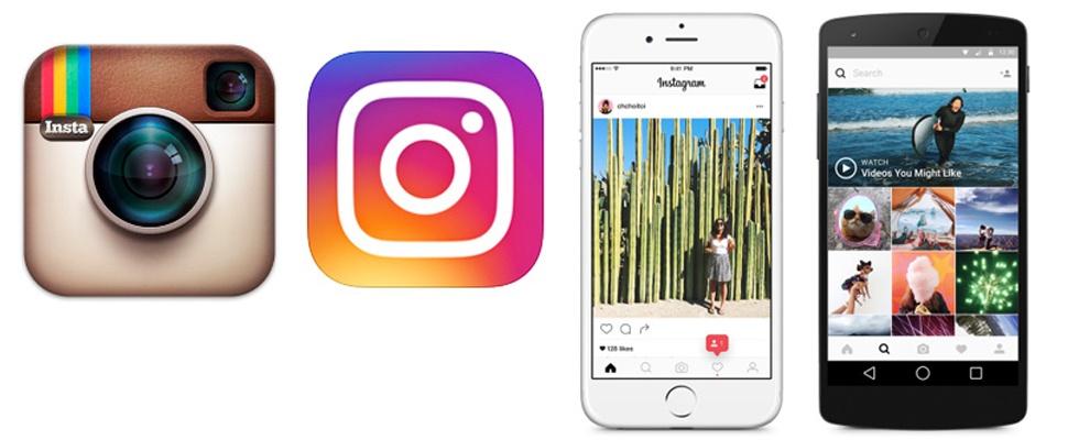 Kleurrijke nieuwe look voor Instagram
